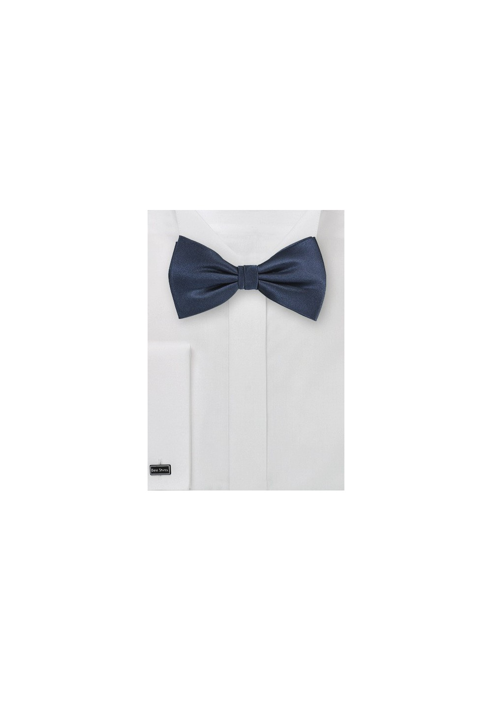 Dark Navy Colored Silk Bow Tie