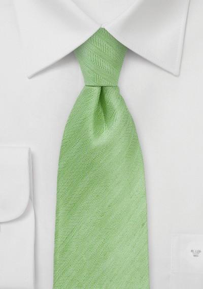 Herringbone Tie in Citrus Green