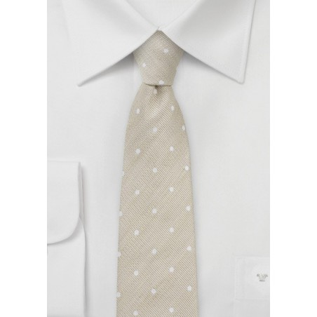 Honey Wheat Polka Dot Tie