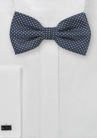 Dark Navy Pin Dot Bow Tie