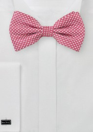 Dark Coral Colored Bow Tie