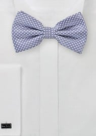 Lilac Purple Pin Dot Bow Tie