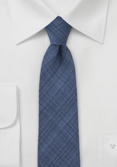 Dark Navy Chambray Skinny Tie