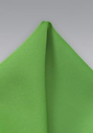 Solid Pocket Square in Kelly Green