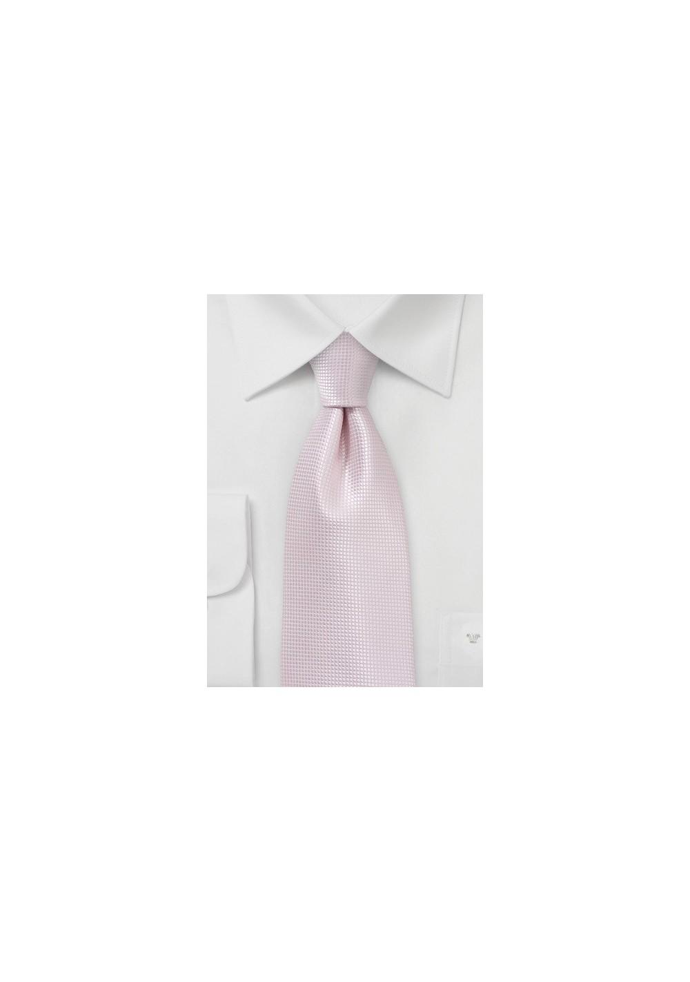 Elegant Wedding Tie in Blush Pink