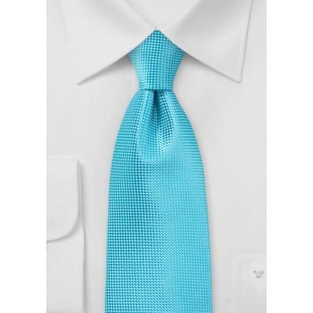 Bold Men's Tie in Bluebird Turquoise