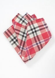 Summer Cotton Plaid Pocket Square