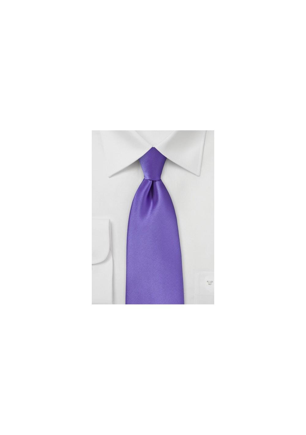 Freesia Purple Tie in XL Length