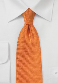 Tangerine Neck Tie in Silk Made for Kids