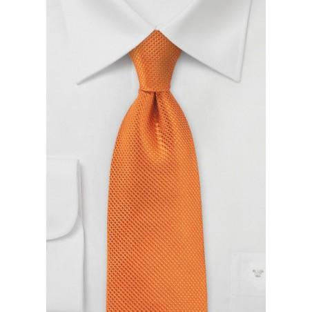 Tangerine Neck Tie in Silk Made for Kids
