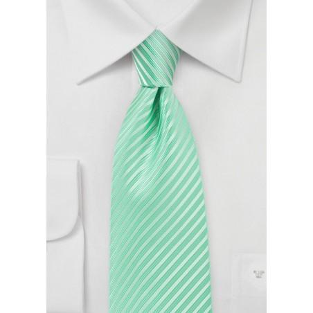 Opal Green Colored Necktie