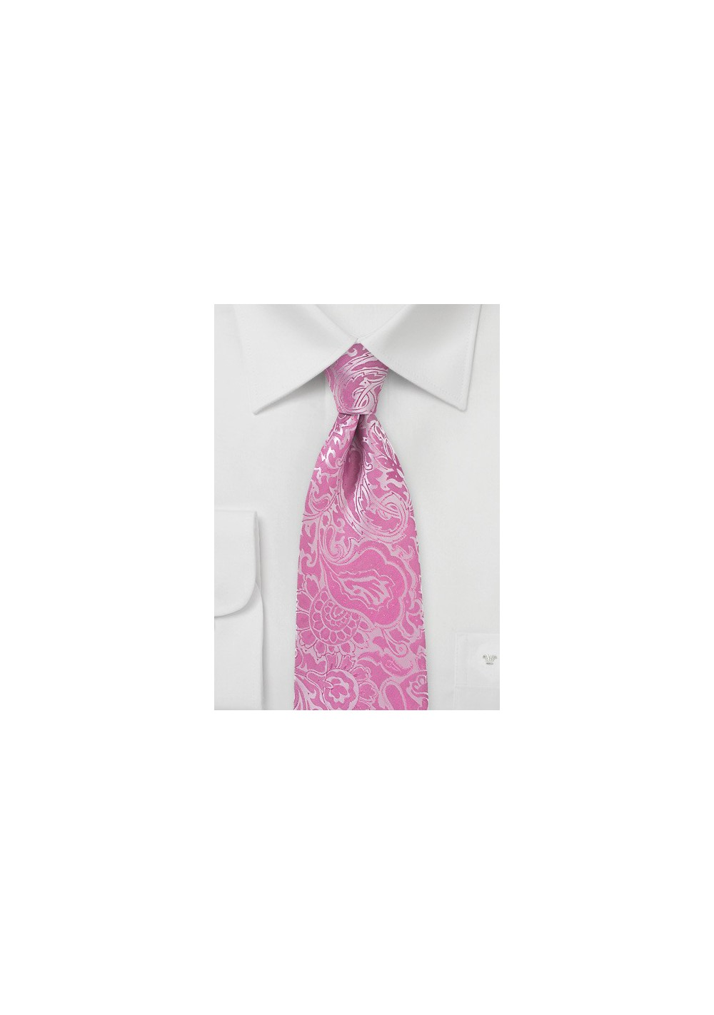 Paisley Summer Tie in Bright Azalea Pink