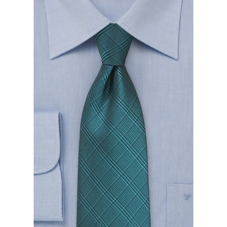 Plaid Tie in Dragonfly Blue