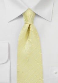 Banana Yellow Plaid Tie