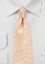 Plaid Tie in Coral Sands Color