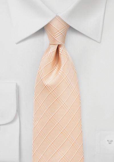 Plaid Tie in Coral Sands Color