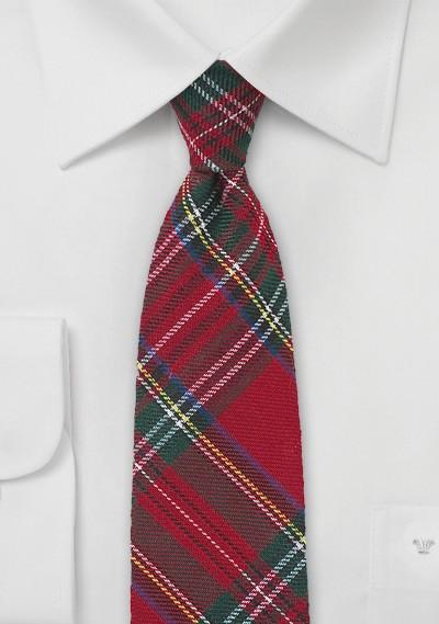 Scottish Tartan Plaid Skinny Tie