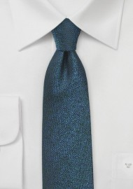 Royal Blue and Black Narrow Silk Tie