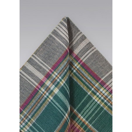Autumn Madras in Green and Brown