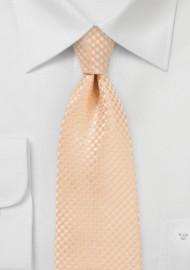 Textured Necktie in Soft Summer Peach