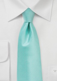 Textured Tie in Beach Glass Green