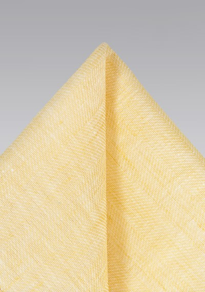 Linen Pocket Square in Yellow
