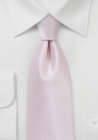 Extra Long Wedding Tie in Blush Pink