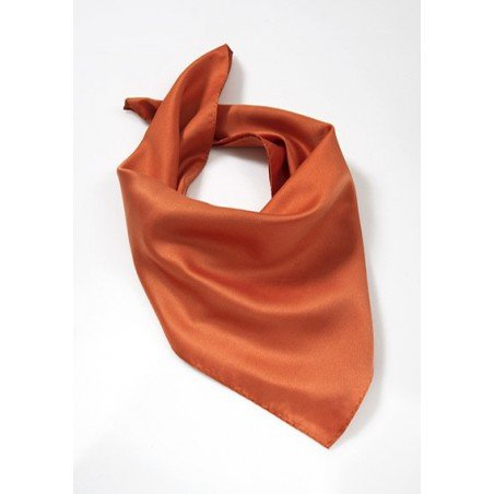 Dark Orange Womens Neck Scarf
