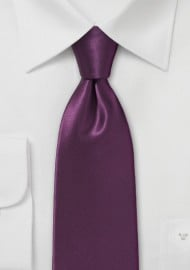 Solid Silk Necktie in Spiced Wine Red