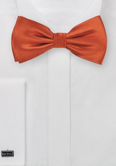 Dark Persimmon Orange Silk Bow Tie