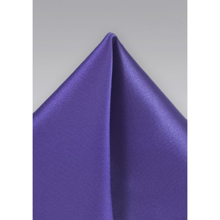 Pocket Square in Electric Purple