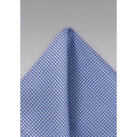 Hydrangea Blue Texture Pocket Square