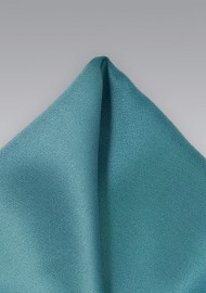 Light Teal Colored Pocket Square