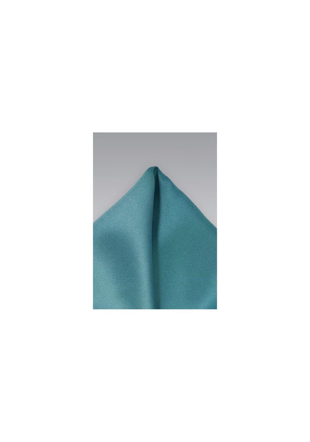 Light Teal Colored Pocket Square