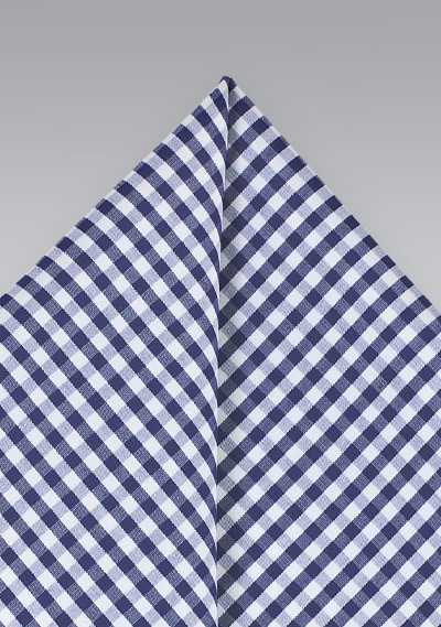 Navy Blue Cotton Pocket Square