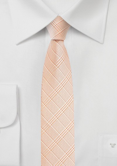 Super Skinny Tie in Coral Sands Color