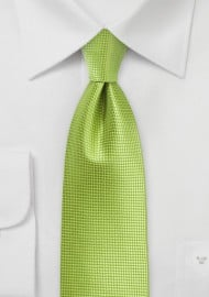 Palm Green Textured Necktie
