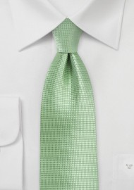 Textured Necktie in Laurel Green