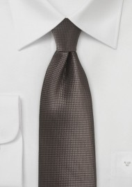 Textured Necktie in Chestnut Brown