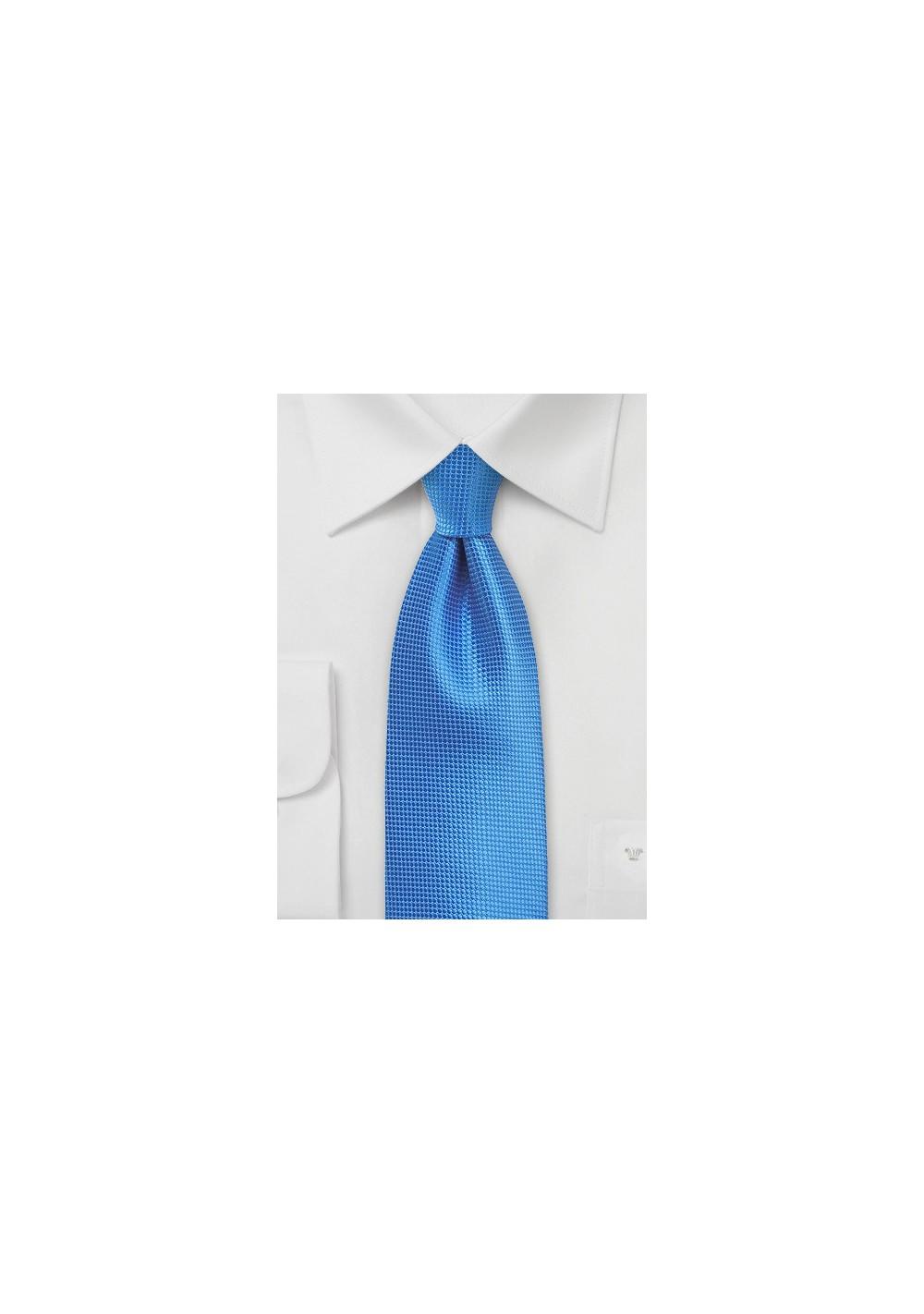 Textured Necktie in French Blue