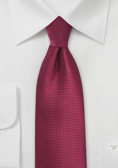 Textured Tie in Black Cherry Red