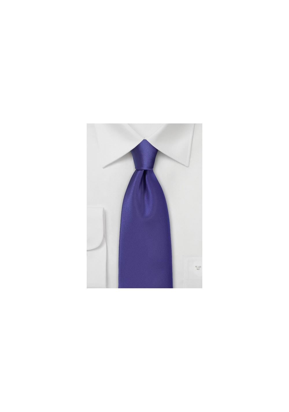 Solid Satin Purple Necktie