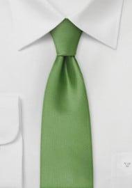 Solid Fern Green Tie in Skinny Width