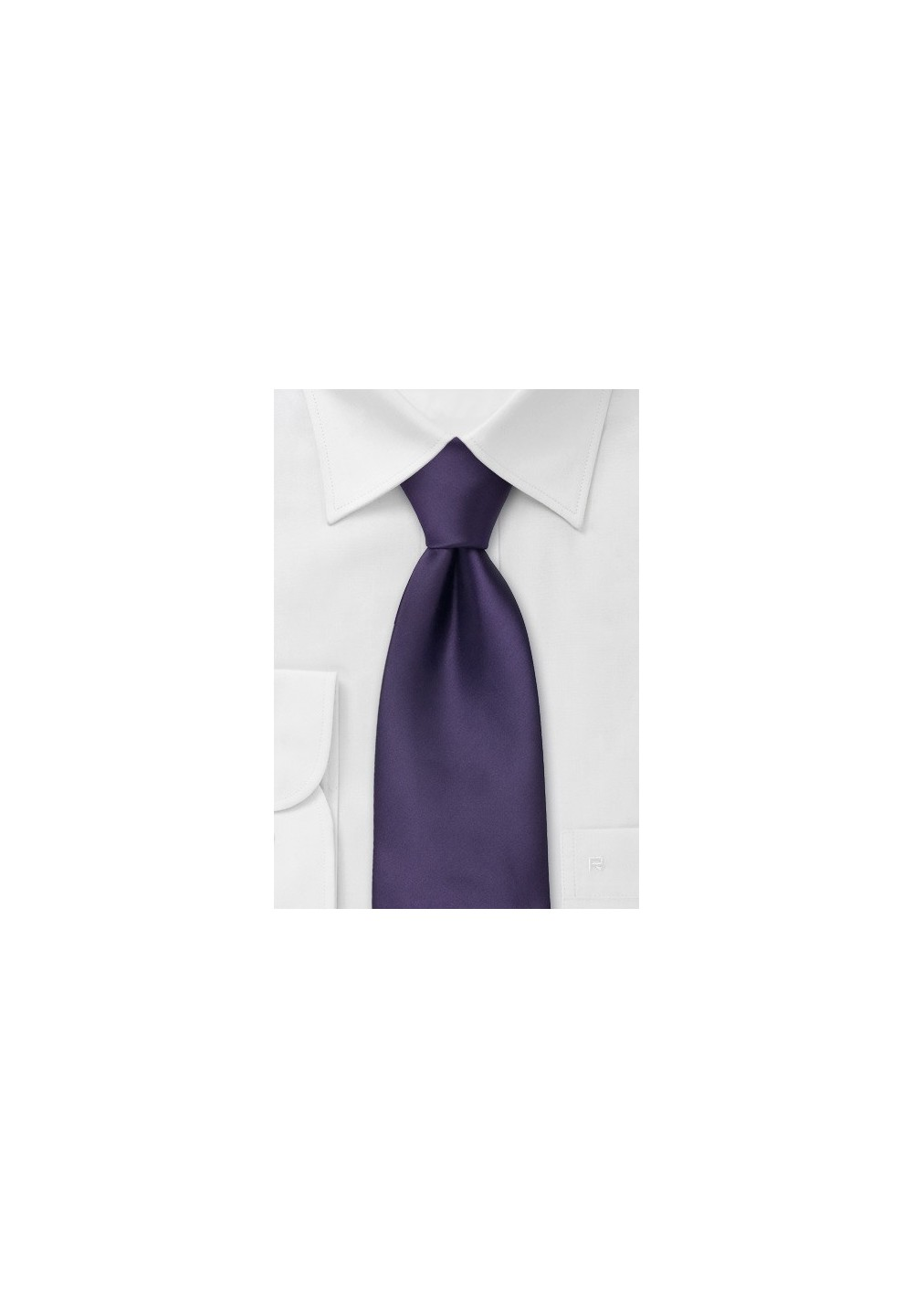 Deep Purple Mens Clip on Tie