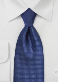 Sapphire Blue Silk Tie in XXL
