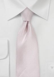 Extra Long Textured Necktie in Blush