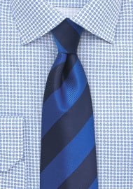 Bold Blue Repp Striped Tie