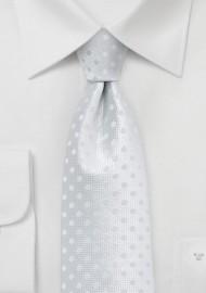 Solid White Polka Dot Tie