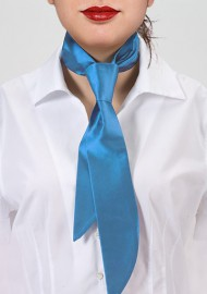 Women's Necktie in Ice Blue