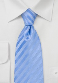 Tonal Light Blue Striped Necktie for Kids